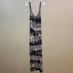 Love In Black White Tie-dye Long Maxi Dress S. BB